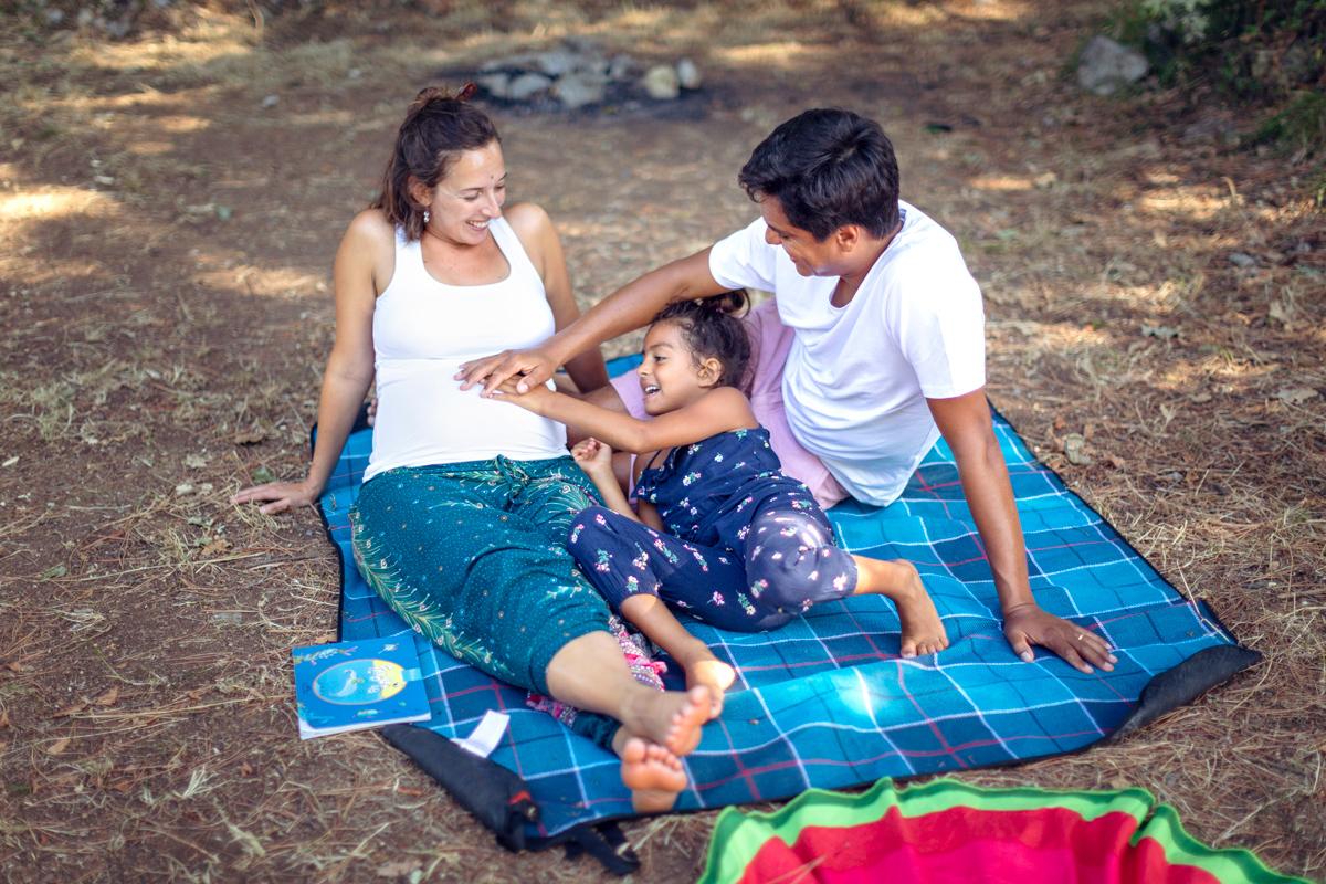 servizio fotografico gravidanza parco La Spezia