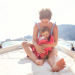 Tempo in famiglia a Portovenere: Anna, Federico e Noè